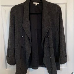 Maurices gray military style stretchy Jacket XL